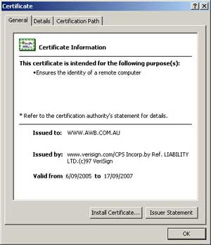 Security Certificate